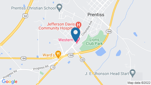 Western Motel - Prentiss Map