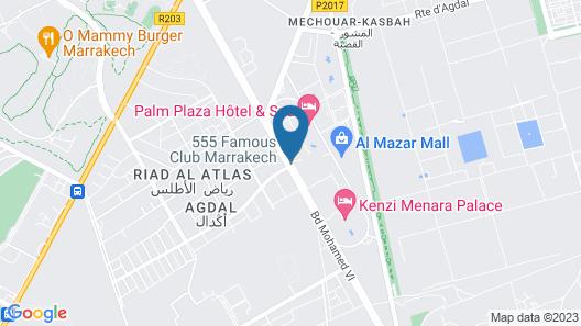 Adam Park Hotel & Spa Marrakech Map