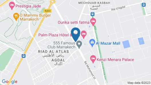 Les Jardins de l'Agdal Hotel & Spa Map