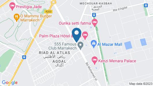 Kenzi Menara Palace & Resort Map