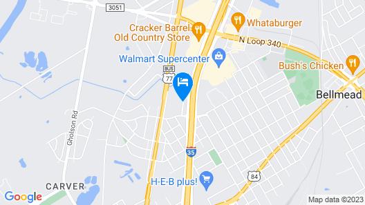 Motel 6 Bellmead, TX - Waco Map