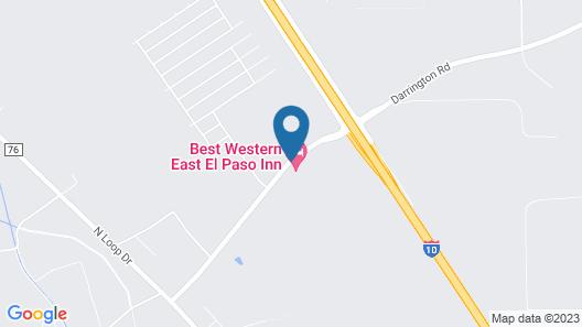 Best Western East El Paso Inn Map