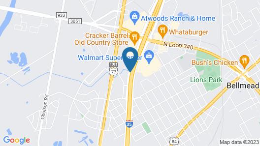 Rodeway Inn Waco North I-35 Map