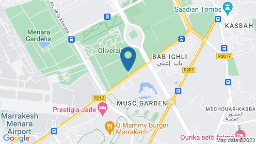 Marrakech Desert Agafay Camp Map