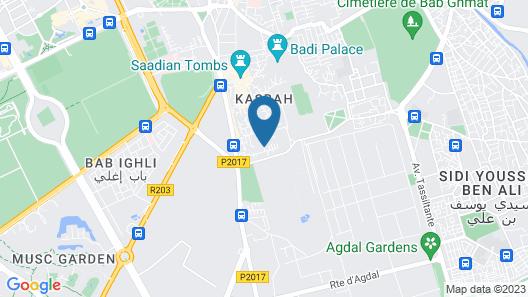 Les Jardins De La Medina Map
