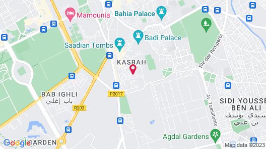 Riad Les Jardins d'Henia Map