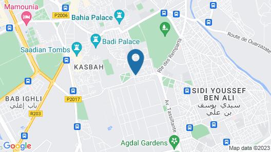 Riad La Porte Rouge Map