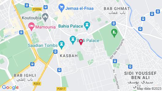 Dar Les Cigognes Map