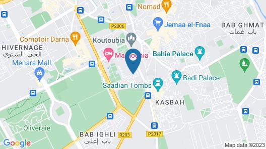 Riad Ain Marrakech Map