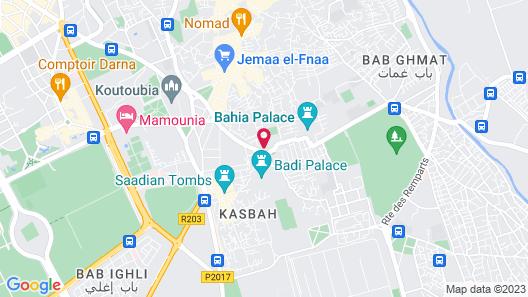 Riad Dar Anika Map
