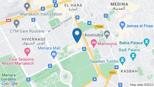 Novotel Marrakech Hivernage Map