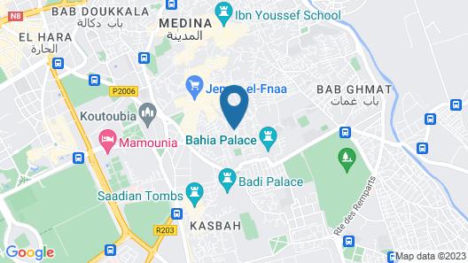 Hostel Riad Marrakech Rouge Map