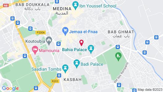 Riad Zayane Atlas Map