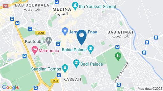 Riad Le Clos des Arts Map
