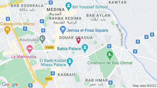 Riad Dar Najat Map