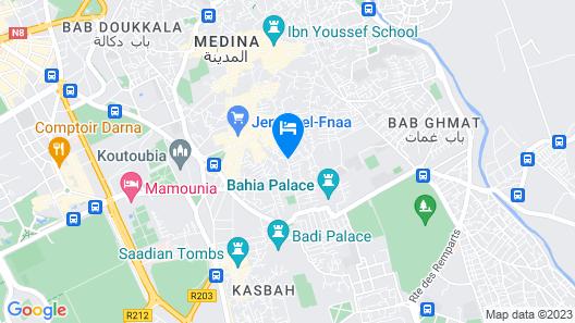 Riad L'Arabesque Map