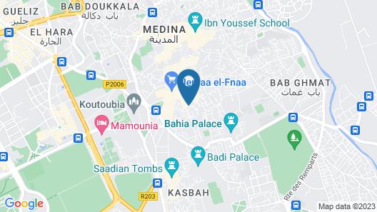 Le Riad Monceau Map