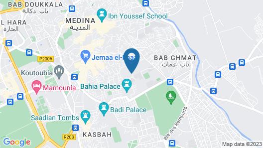 Riad Fabiola et Spa Map