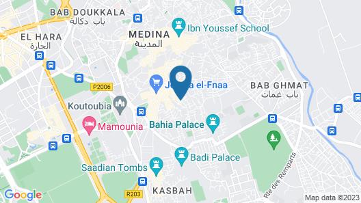 Smile Marrakech Hostel Map