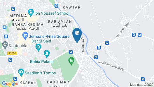 Riad Andalouse Map