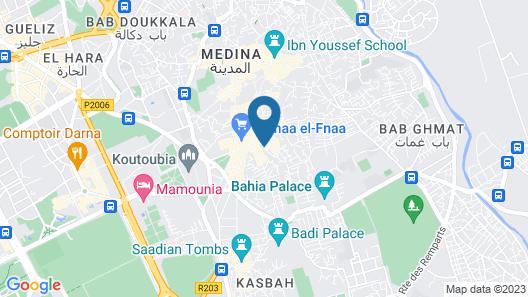 Riad Jemaa El Fna & Spa Map