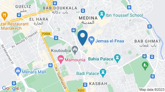 Les Jardins De La Koutoubia Map