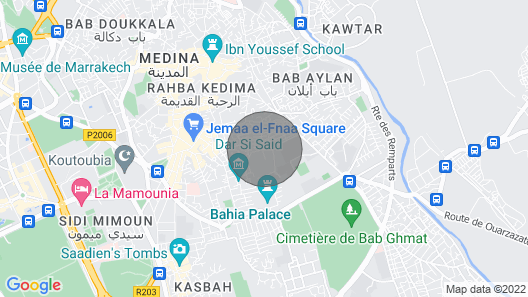Riad Melilo With Heated Pool Map