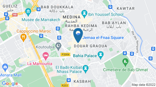 Hotel & Ryad Art Place Marrakech Map
