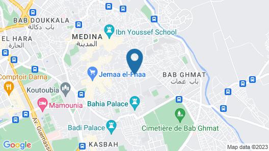 Riad Andalla Spa Map