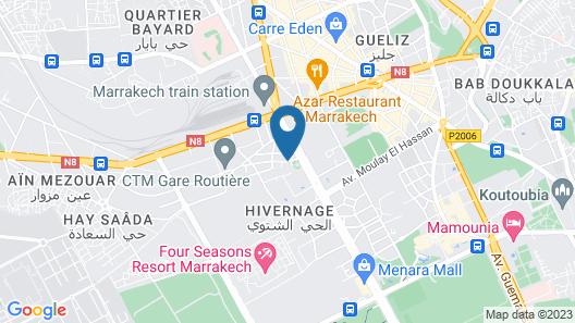 Amani Hotel Suites & Spa Map