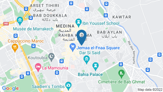Majorelle Hostel Map