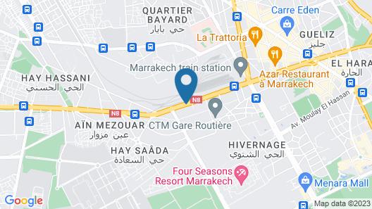 Mogador Express GUELIZ Map