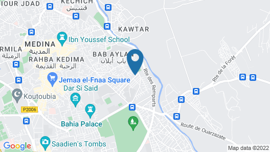 Riad Le Jardin d'Abdou Map