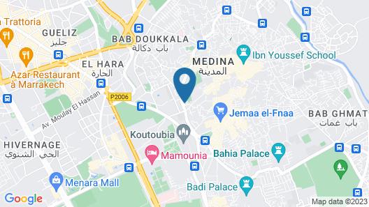 Riad Jennah Rouge - Hostel Map