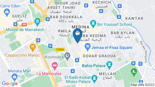 Riad Layla Rouge Map