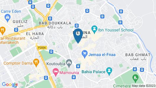 Riad R'mane Map
