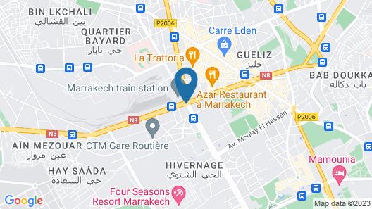 Opera Plaza Hotel Marrakech Map