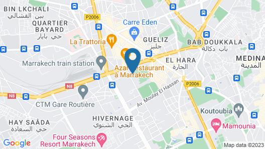 Hotel Corail Map