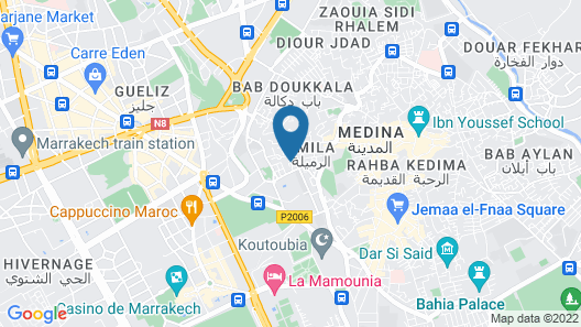 La Maison Arabe Hotel, Spa and Cooking Workshops Map