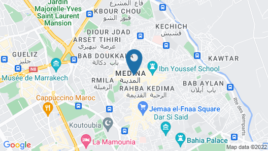 Riad Safar in Marrakech Map