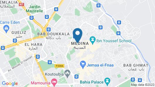 Marrakech Riad Map