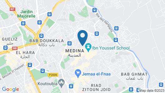 Rodamon Riad Marrakech Map