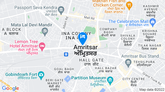 Lemon Tree Hotel Amritsar Map
