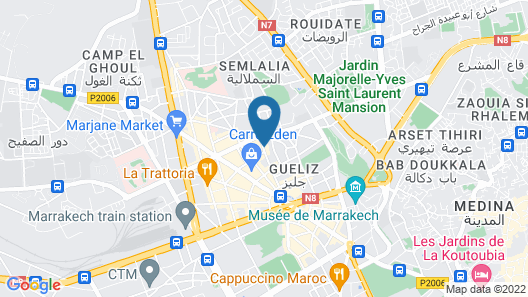 Moroccan House Hotel Marrakech Map