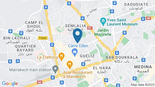 Les Terrasses de Gueliz Map