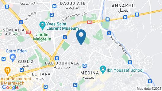 Riad Beldi Map