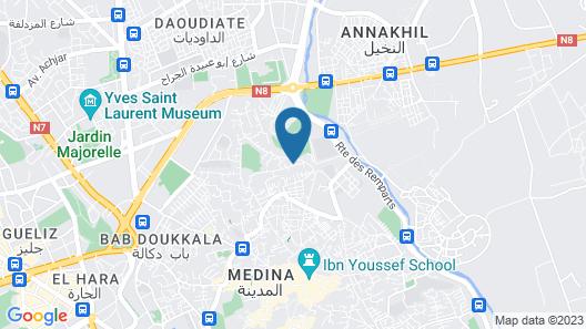 Riad Vert Marrakech Map