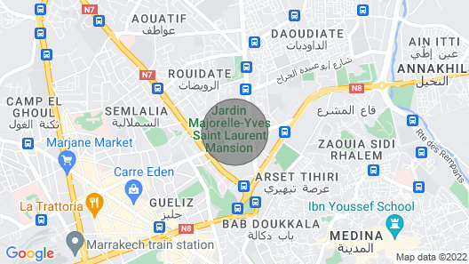 The Moroccan Luxurious Three Bedroom Extra Services & Excursions Map