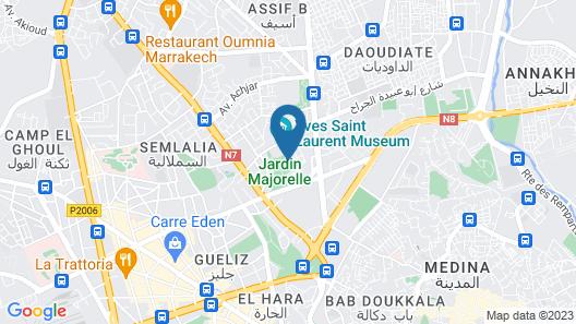 Appart avec vue Jardin-Majorelle Map