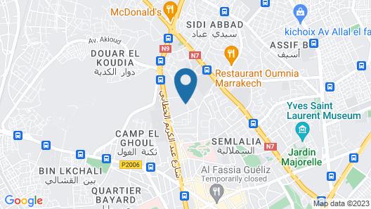 Hotel Marrakech le Tichka Map